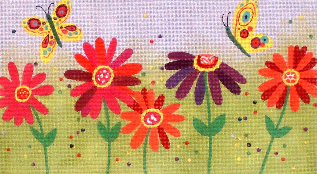 Spring Flowers    (handpainted  from Ewe and Eye)