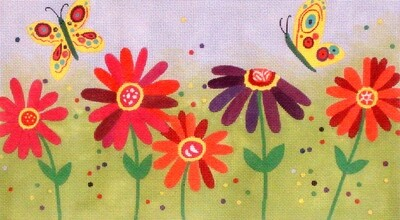 Spring Flowers    (handpainted  from Ewe and Eye)