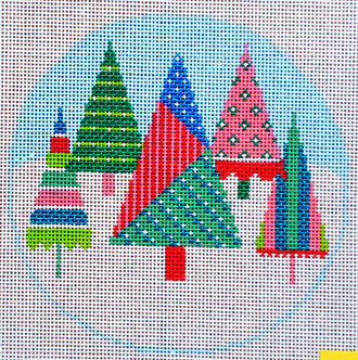 Christmas Tree Round (Handpainted by Shelly Tribbey Designs)