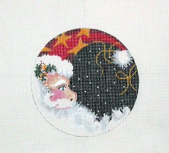 Santa Moon Round  (Handpainted by Associated Talents)