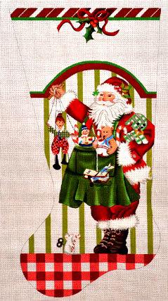 Toy Santa Stocking            (handpainted by Melissa Shirley)