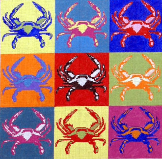 Pop-Art Crab (Handpainted by The Point Of It All)