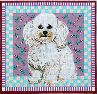 Bichon Frise  ( Handpainted by Barbara Russell Designs)