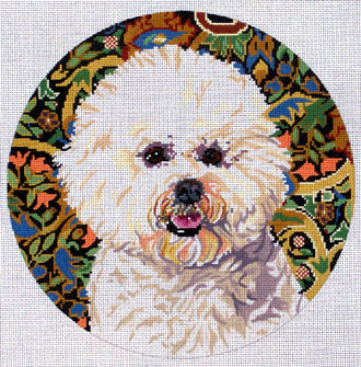 Bichon Frise 2        (Handpainted by Barbara Russell Designs)