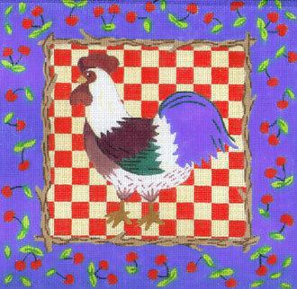 Cherries & Rooster (facing left)