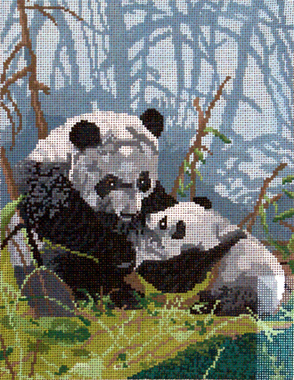 Pandas     (handpainted by Meredith Collection)