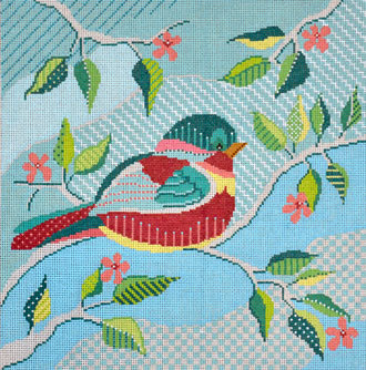 Quilted Bird     (Handpainted by Shelly Tribbey Designs)
