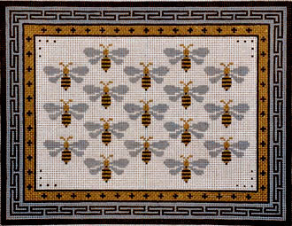 Gold & Silver So Bee It       (Handpainted from JP Needlepoint)