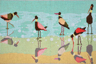Shorebirds (Handpainted by Birds of a Feather)