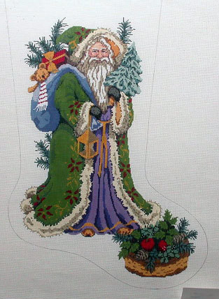 Pere Noel Stocking   (handpainted from Gayla Elliot)