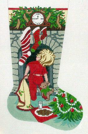 Cookies for Santa/B Stocking (Handpainted by Gayla Elliott Designs)