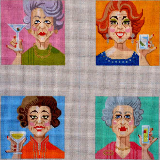 Ladies Who Lunch,  (Handpainted from Labors of Love)