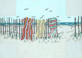 Beach Towels Brick Cover    (Handpainted by Needle Crossings)