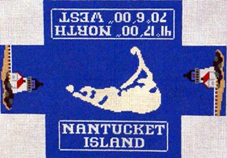 Nantucket Brick Cover (Handpainted by Silver Needle Designs)