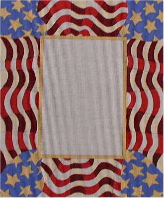 Waving Flag Picture Frame