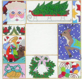 Christmas Patchwork Picture Frame