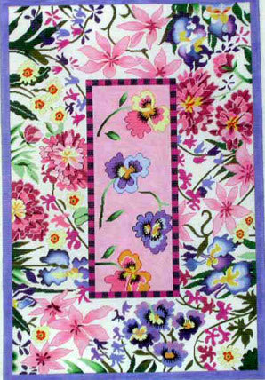 Pink Floral Rug (Handpainted by Lee's Needle Arts)