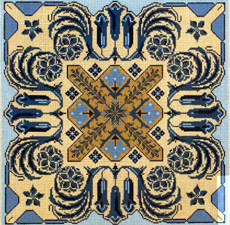 Blue Tile   (handpainted by Meredith Collection)