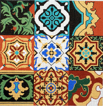 Persian Tile Pattern  (handpainted by Treglown Designs)