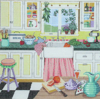 Grandma's Kitchen   (Handpainted by Sandra Gilmore Designs)