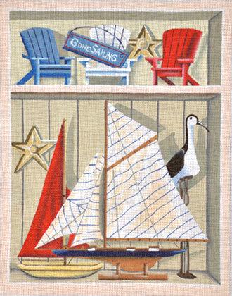 Gone Sailing   (Handpainted by DJ Designs)