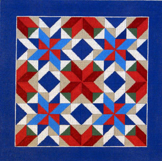 Pinwheel Star Quilt      (handpainted by Susan Roberts Designs)
