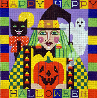 Happy Halloween Witch   (handpainted by Shelly Tribbey)