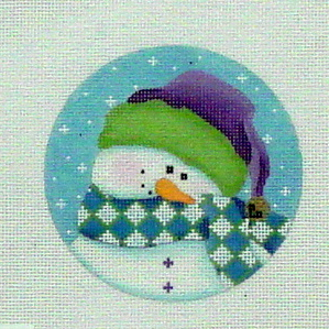 Shy Snowman (Handpainted by Pepperberry Designs)