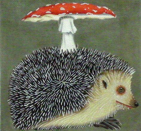 Hedgehog/Mushroom  (handpainted by Melissa Shirley)