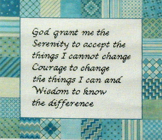 Serenity Prayer   (handpainted by Susan Roberts)`