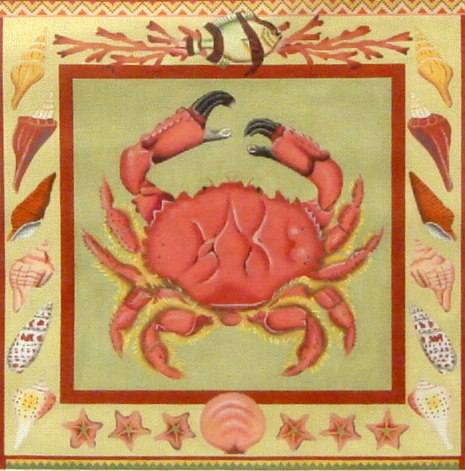 Crab   (handpainted by Melissa Shirley Designs)