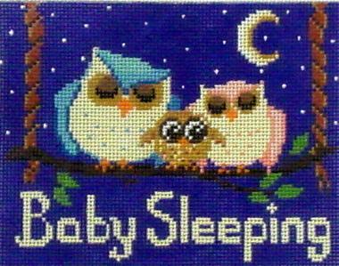 Baby Sleeping Owls   (Handpainted by Alice Peterson dDesigns)