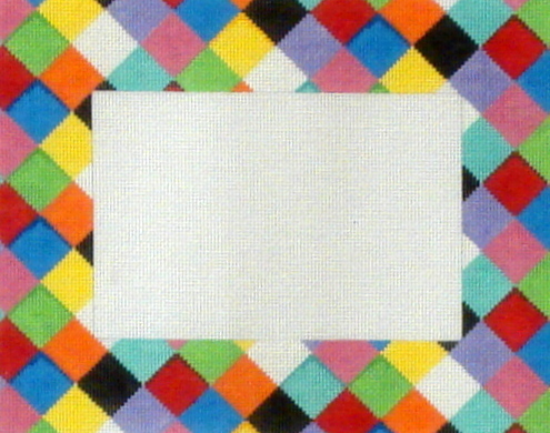 Multi Harlequin Picture Frame  (handpainted by Associated Talents)