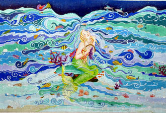 Enchanted Mermaid's Dream (Handpainted by Dede Designs)