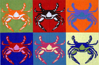 Pop Art Crabs (Handpainted by The Point Of It All Designs)