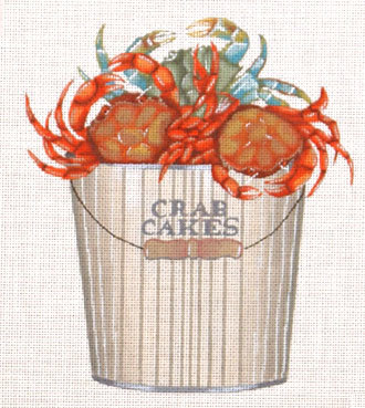 Crab Cakes   (handpainted by Melissa Shirley)