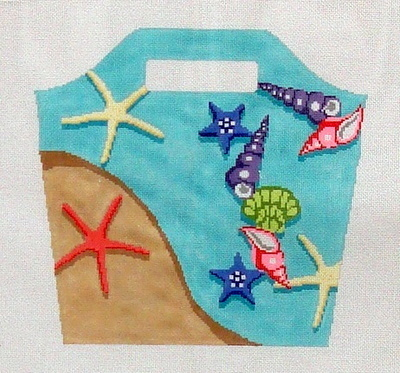 Beach Bucket Bag   (handpainted by Hingham Square Designs)