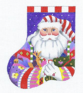 Nordic Santa Minisock   (handpainted by Melissa Shirley)
