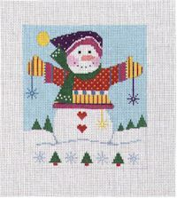 Knitted Snowman (Handpainted by Shelly Tribbey Designs)