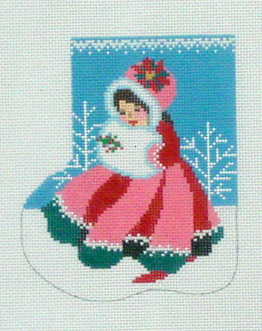 Mary Christmas Mini Sock (Handpainted by Shelly Tribbey Designs)