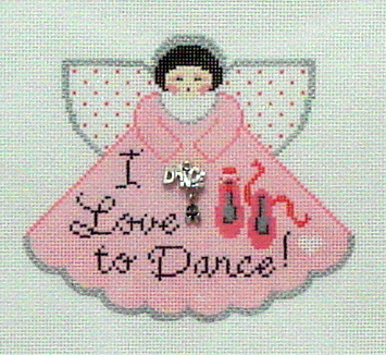 I Love to Dance Angel with Charms (Handpainted by Painted Pony Designs)