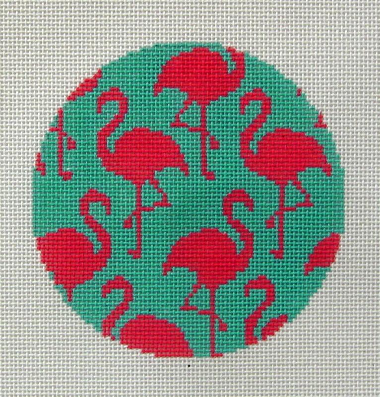 Flamingos Ornament   (Handpainted by Danji Designs)