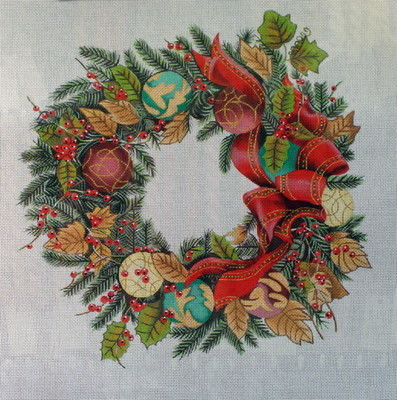 Ornament Wreath      (handpainted from  Trubey Designs)