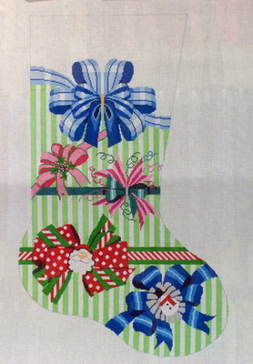 Perfect Hoiday Bow Stocking (Handpainted from Shelly Tribbey Designs)