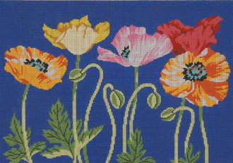 Poppies (Handpainted by Lee's Needleparts)