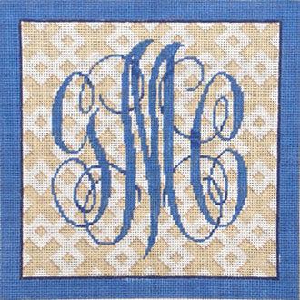 Custom 3 Letter Monogram On Trellis     (from Associated Talent)