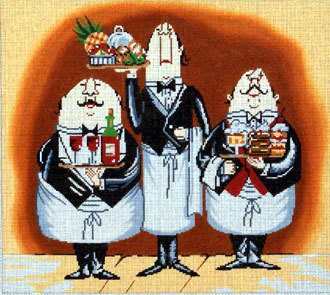 3 Waiters  (Hand Painted by Lee Designs)