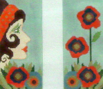Lucia Eye Glass Case  (handpainted by Needle Diva)