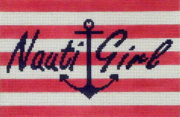 Nauti-Girl  (handpainted from CBK needlepoint Collection)