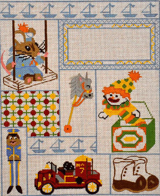 Boy Sampler  (All About Stitching)